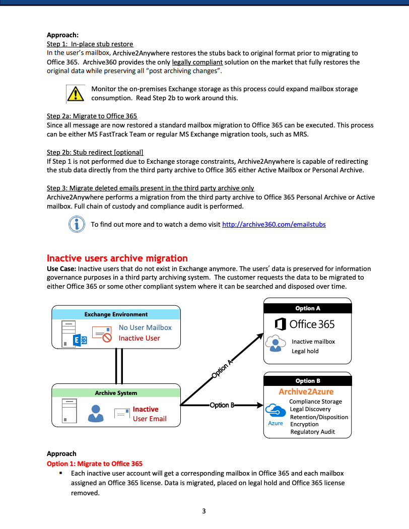 Best Practice Compliance Email Archive Migration to Office 365 and Azure2